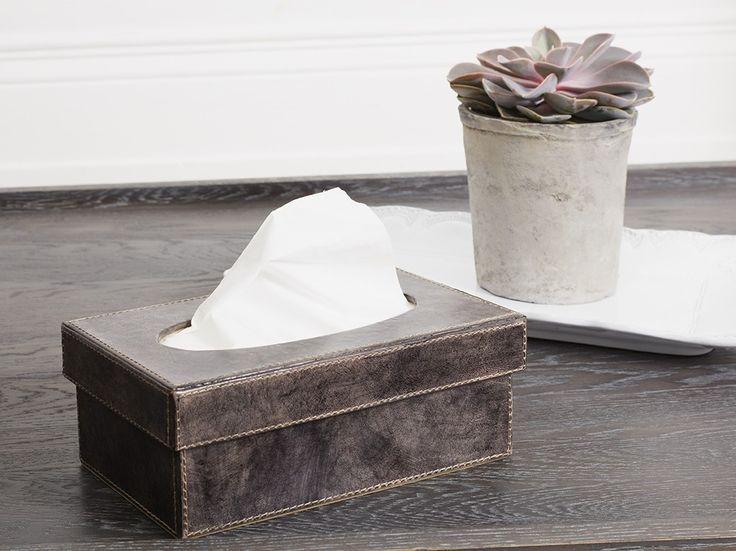 Leather Tissue Box #MerryBrissmas