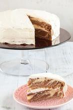 ZEBRA CAKE  Lekkere cake voor bij de koffie of thee, een zebra cake met laagjes donkere chocoladecake en vanillecake. Recept voor 8 personen.  Recept onder de knop BRON