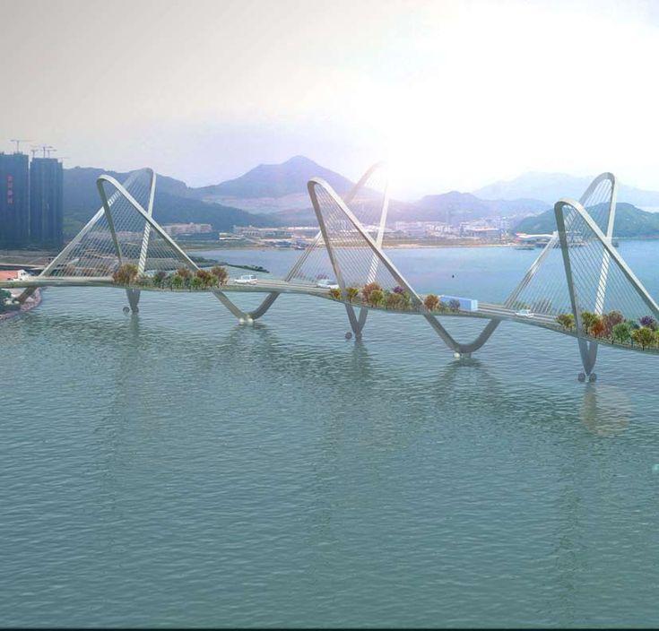 Cross Bay Link Bridge - Hong Kong pinned by www.ukgardening-d...