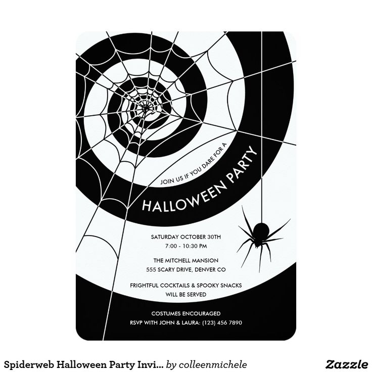 61 best colleen michele design images on pinterest party spiderweb halloween party invitations stopboris Choice Image