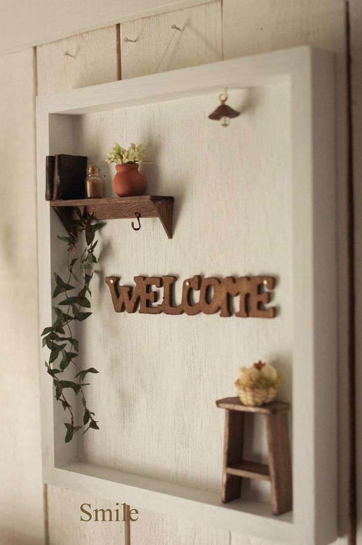 Miniature Welcome Board