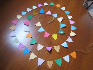 Colourful bunting!