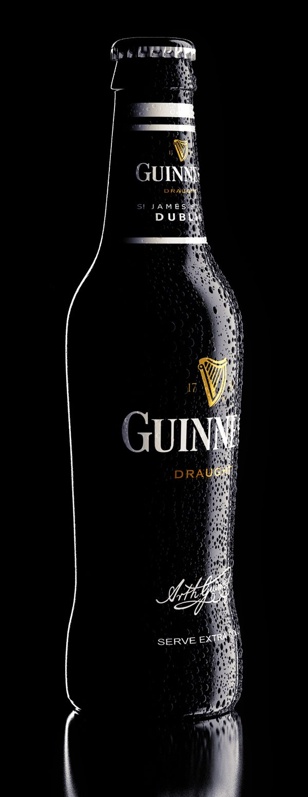 Guinness by Александр Докучаев, via Behance