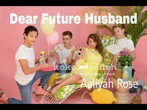 Dear Future Husband by Meghan Trainor - Cover by Aaliyah Rose - YouTube