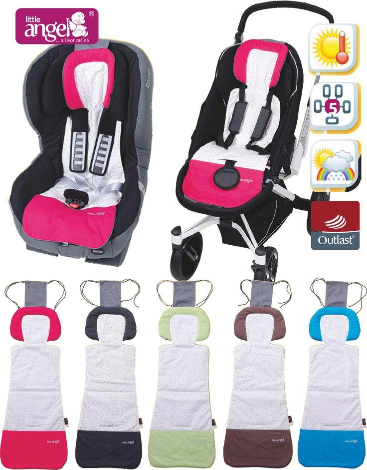 Termoregulační podložka do kočárku. Už žádné pocení :-)  Thermoregulatory pad into the stroller. No more sweating :-)