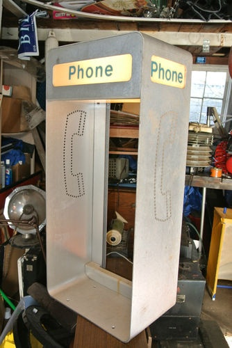 Vintage Industrial light wall mount pay phone booth ...