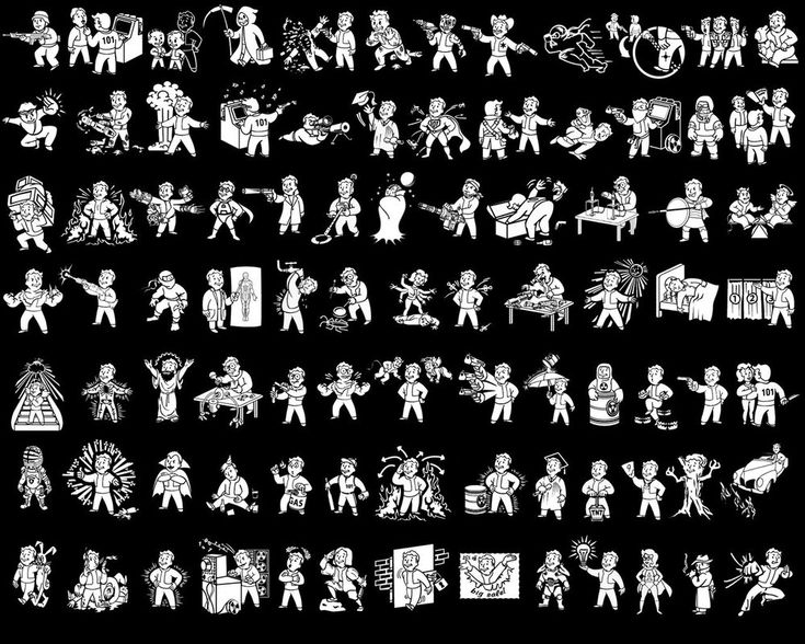 Here is a compilation of the fallout 3 perk icons that I made into a wallpaper