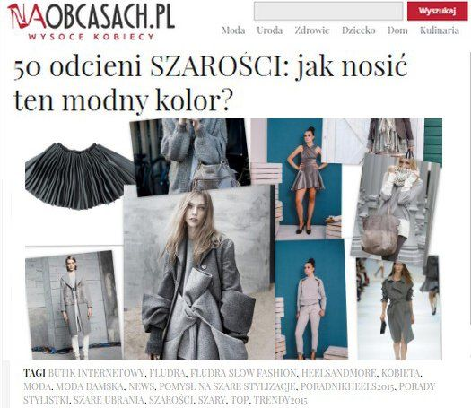 Fludra Slow Fashion collection on @naobcasach.pl website