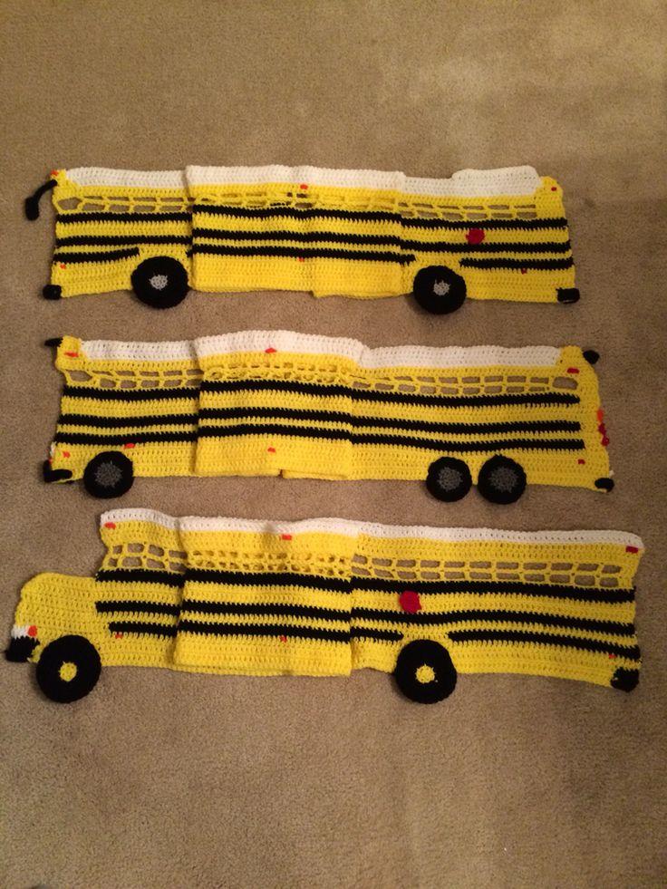 Crochet School Bus Scarfs Crochet Teacher Gifts Crochet