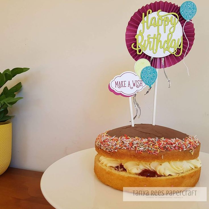 Tanya Rees Papercraft -Stampin' Up!  Happy Birthday Gorgeous Bundle cake topper