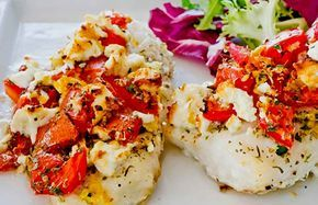 Try this delicious baked Pollock recipe. The flavour of the fish is complimented by the addition of ripe tomatoes and some Feta cheese. About Pollock Pollock is considered to be a sustainable fish species and is often cited as an alternative to Cod or Haddock in many recipes. In fact the Pollock is a smaller relative of the Cod