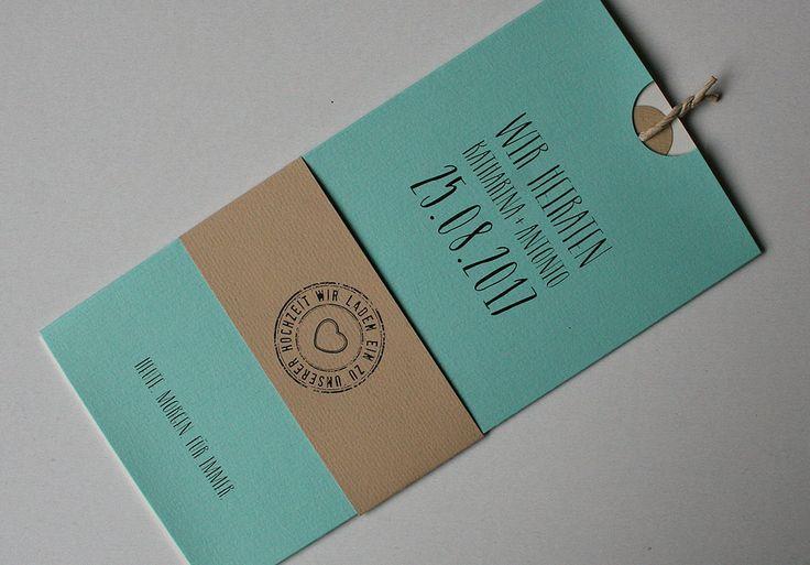 Lovely Amira Hochzeitskarte in mint creme