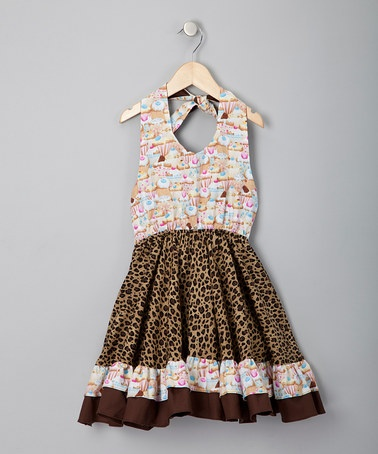 Take a look at this Pink Leopard Cupcake Halter Dress - Infant, Toddler & Girls by Spot On: Kids' Apparel on #zulily today!