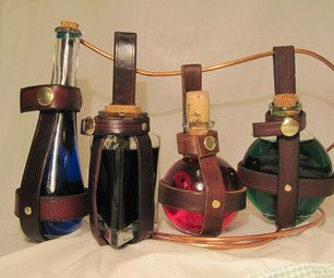 DIY Leather Potion Bottle Holder: Perhaps of interest to aspiring alchemists or Treecallers?