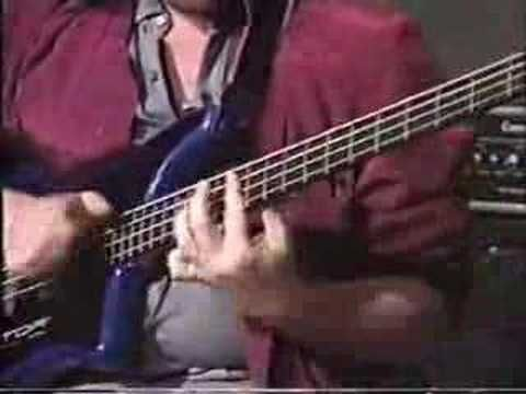 """Stuart Hamm uses the two handed tapping technique to perform the classic Charlie Brown Theme Song, """"Linus and Lucy"""" on the Bass Guitar."""