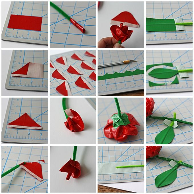 how to make a flower out of duct tape easy
