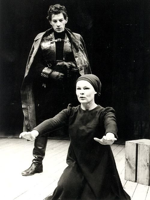 MACBETH  Judi Dench and Ian Mckellen in a 1978 production of Macbeth.  That's a lot of awesome in one picture.   We saw a few clips of this in my Shakespeare class. I need to see the whole thing!
