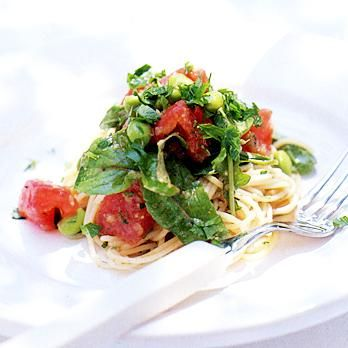 枝豆とフレッシュトマトの冷たいパスタ | 山田直喜さんのパスタの料理レシピ | プロの簡単料理レシピはレタスクラブニュース