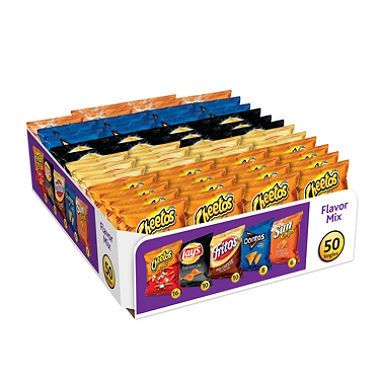 About this item - Includes your favorite varieties of Lay's, Cheetos, Fritos, Doritos and SunChips brand chips and snacks - Ideal for vending and concession stands, stocking office breakrooms and pack