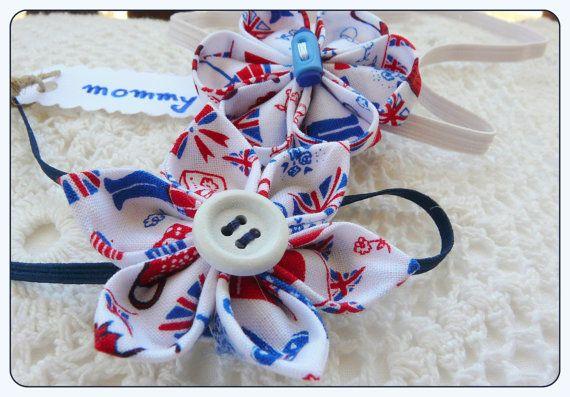 London motifs Mother Daughter matching headband set