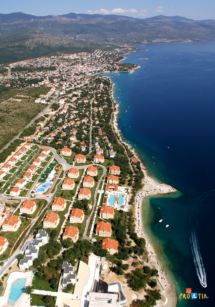 Novi Vinodolski, Croatia. The beaches, sea and the flow of mountain air from the forests in the nearby hinterland, the well-tended bike paths and walkways and excellent gastronomic offer makes a Novi Vinodolski real paradise for every guest!