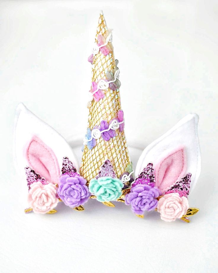 unicorn horn - unicorn headband - unicorn horn headband - unicorn baby bow - unicorn baby prop - unicorn flower crown - unicorn birthday headband - unicorn bday crown - Little Nest Market