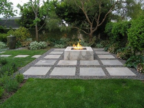 contemporary landscape by Peter Ivancovich Landscape Design: concrete fire pit
