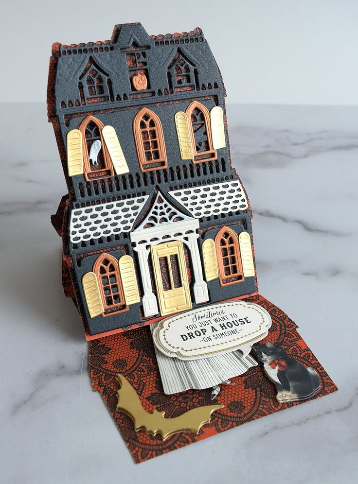 Haunted House Easel Cards Made Easy! Anna Griffin Anna