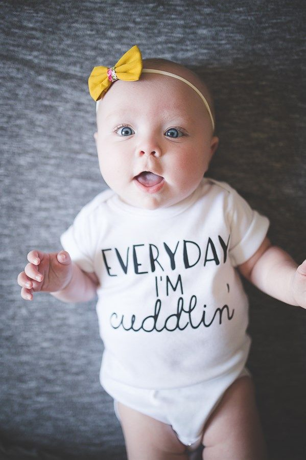 The perfect baby gift! Whether you are looking for the perfect onesie, or a funny baby gift; With 5 sweet styles to choose from, you're sure to find one you'll love! | Shop. Rent. Consign. MotherhoodCloset.com Maternity Consignment