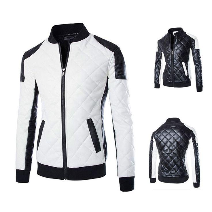 Diamond Stitched Winter Leather Jacket - Jacket - eDealRetail - 1