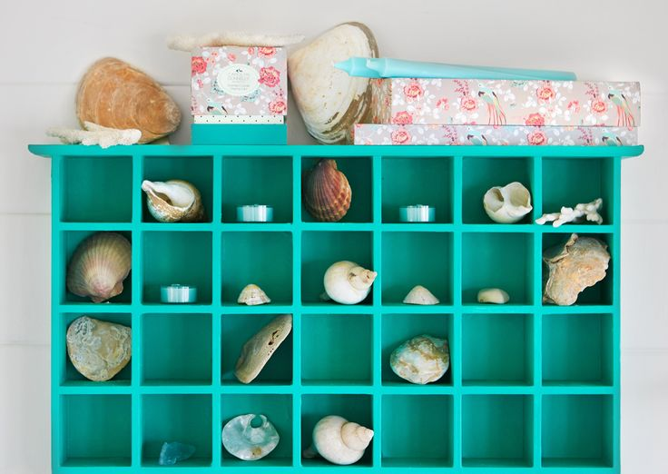 Rectangular-shaped storage unit with 28 compartments by Carolyn Donnelly eclectic