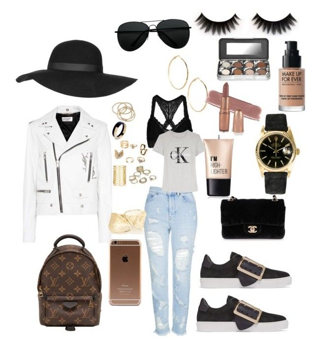 """""""OOTD"""" by madisonkiss on Polyvore featuring Topshop, Louis Vuitton, Yves Saint Laurent, Burberry, Chanel, GUESS by Marciano, ABS by Allen Schwartz, Marni, Jules Smith and Rolex"""