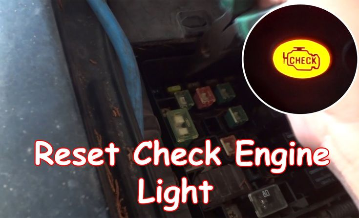 how to reset check engine light without scanner