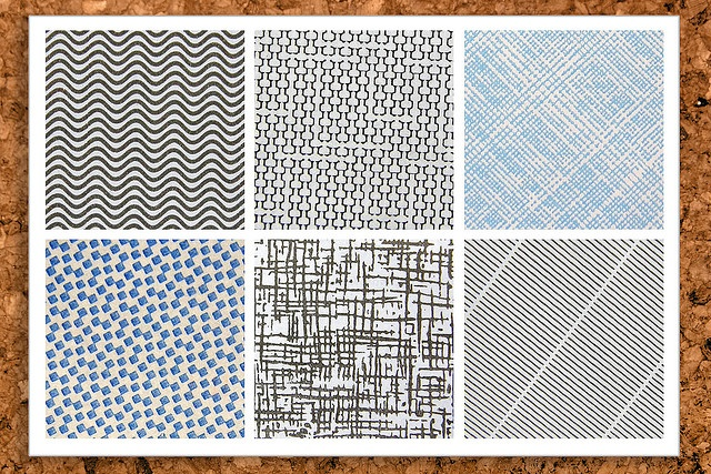 I kind of like the idea of using security envelope patterns for art.