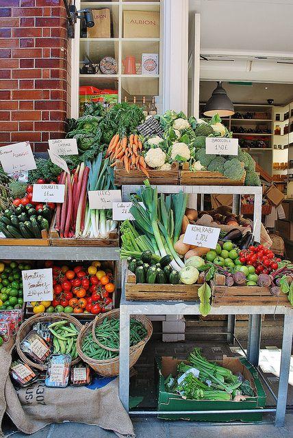 Farmers market display. Albion   London