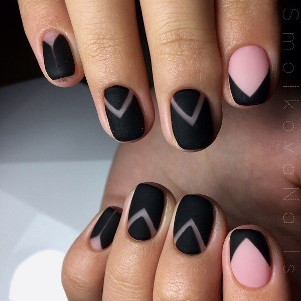 25 unique matte black nails ideas on pinterest mat nail polish 30 black matte nail art designs prinsesfo Image collections