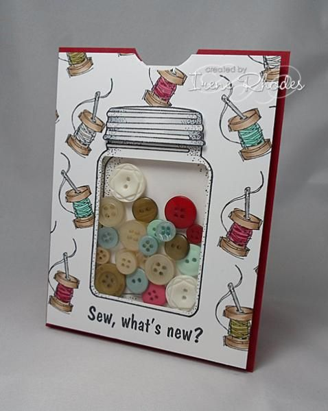 IC415 Button Jar by DandI93 - Cards and Paper Crafts at Splitcoaststampers