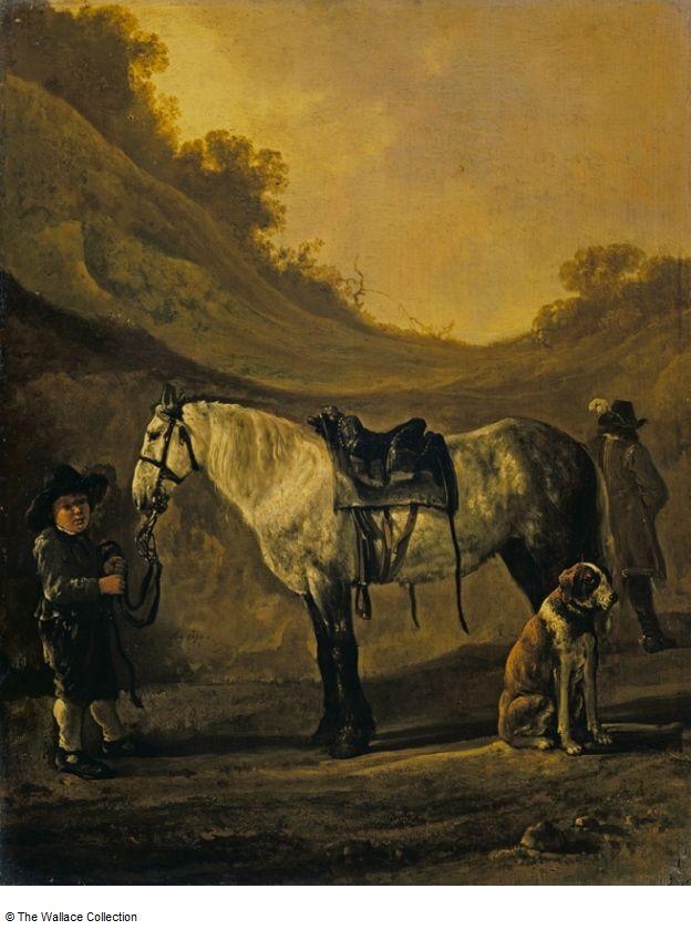 Calraet, Abraham van - Boy Holding a Horse. Собрание Уоллес , Лондон, Великобритания