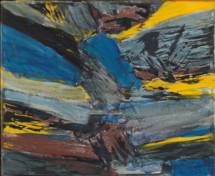 Knut Rumohr (Norwegian, 1916-2002), Fjellandskap, 1962. Tempera on canvas, 30,5 x 37,5 cm