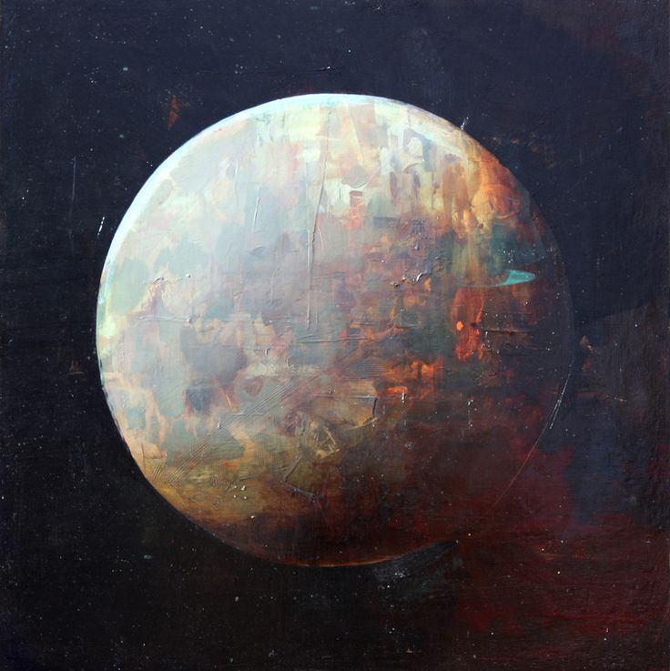 Good lord, look at these brushstrokes! Joshua Bronaugh. Red Moon, 2012.