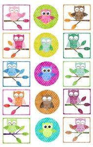 FREE printable owl tags // cupcake toppers // Etiquettes à gogo: Étiquettes Petits hiboux