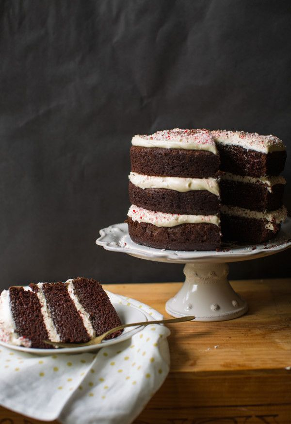 Ghirardelli Chocolate Cake With Peppermint Cream Cheese Frosting A Life Well Lived