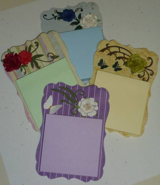 Post-It Note cards (fridge magnets) by Mathilda....... used Spellbinders Labels 17 for the base.... so cute!