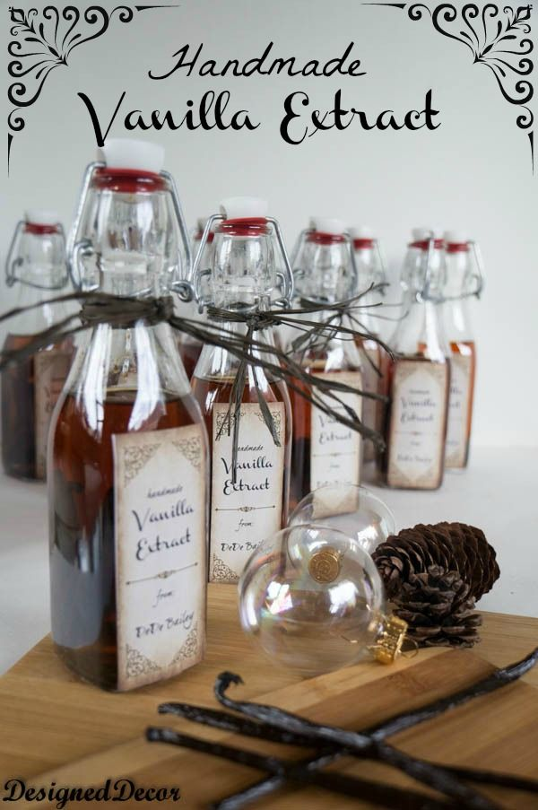 Homemade Vanilla Extract! This is the best and the cheapest. I've been doing this for years and you can find cheaper beans if you shop around on the i-net.