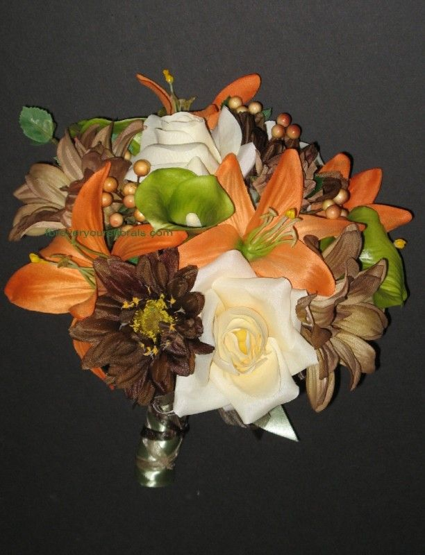 ~idea for bouquet to toss if you are using real flowers for wedding. and/or for rehearsal   Image detail for -Mossy Oak Wedding Bouquets, Silk Camo Wedding Flowers   eBay