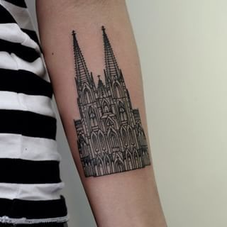 Like Cologne's cathedral… | 22 Breathtaking City Tattoos That Will Give You Wanderlust