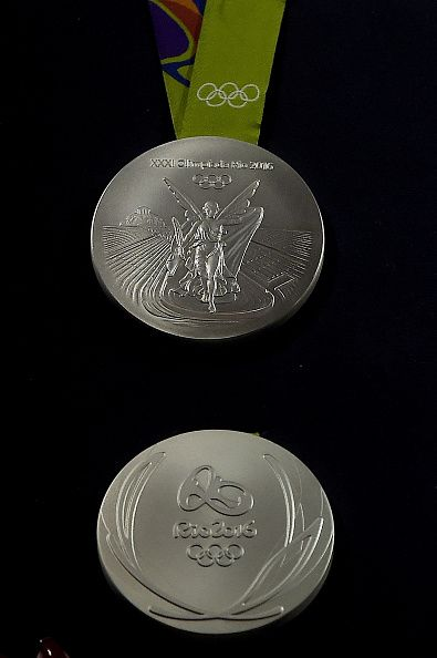 #RIO2016 A closeup of the Olympic silver medal during the Launch of Medals and Victory Ceremonies for the Rio 2016 Olympic and Paralympic Games at the Future...