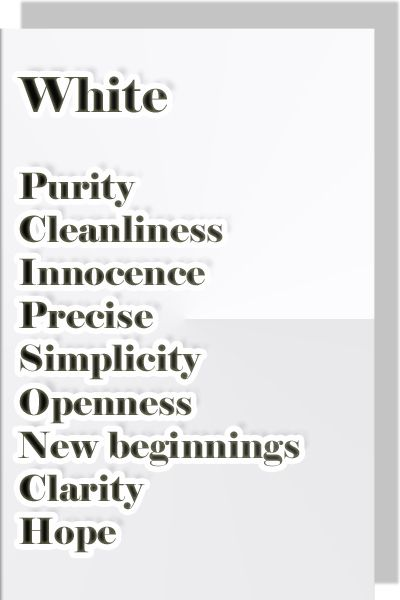 Color White  Color Psychology & Personality Meaning
