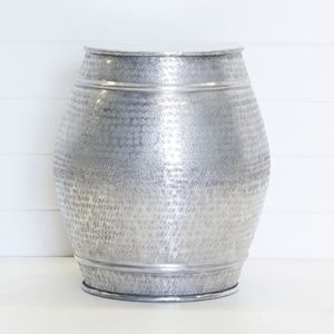 SILVER DRUM SIDE TABLE QTY: 4