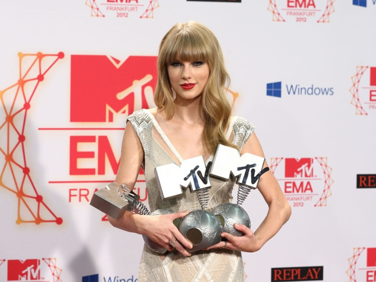 Taylor Swift is the winners of Best Female, Best Live and Best Look at the 2012 MTV EMA. Congratulations!!!